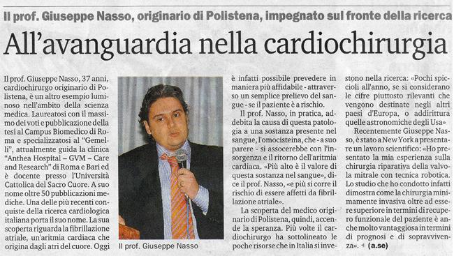 All'avanguardia nella cardiochirurgia.