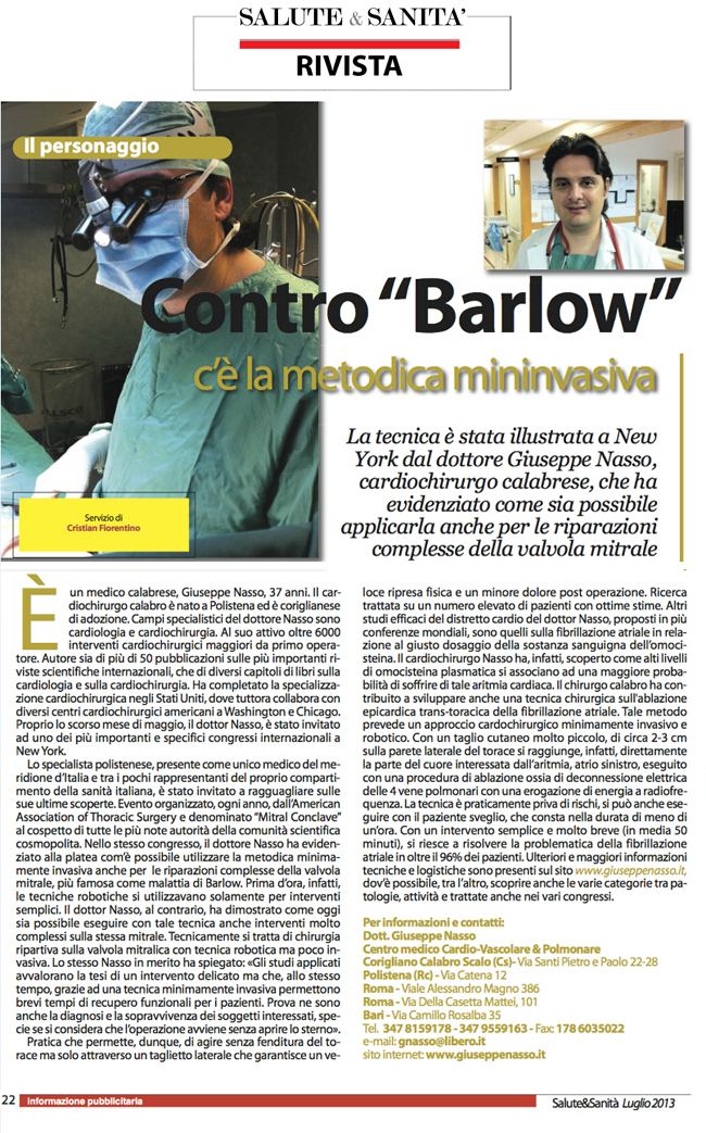 """Contro """"Barlow"""" c'è la metodica mininvasiva"""