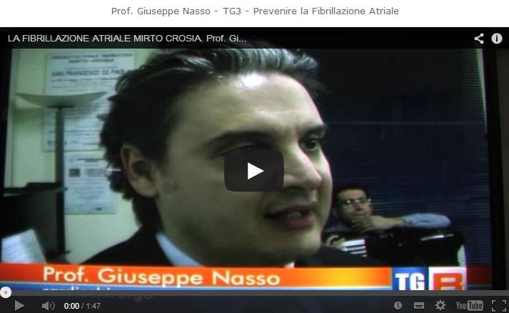 Prof. Giuseppe Nasso – TG3 – Prevenire la Fibrillazione Atriale