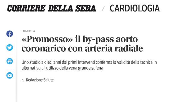 «Promosso» il by-pass aorto coronarico con arteria radiale